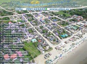 Olon Restaurant Guide Apart-Hotel Rincón d'Olón, Ecuador's #1 Beach Mapa de Olon Mapa de Restaurantes en Olon